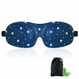 Woman & Man 3d Sleeping Masker Mata, Total Darkness Travel Masker Mata Penyumbat Telinga Gratis